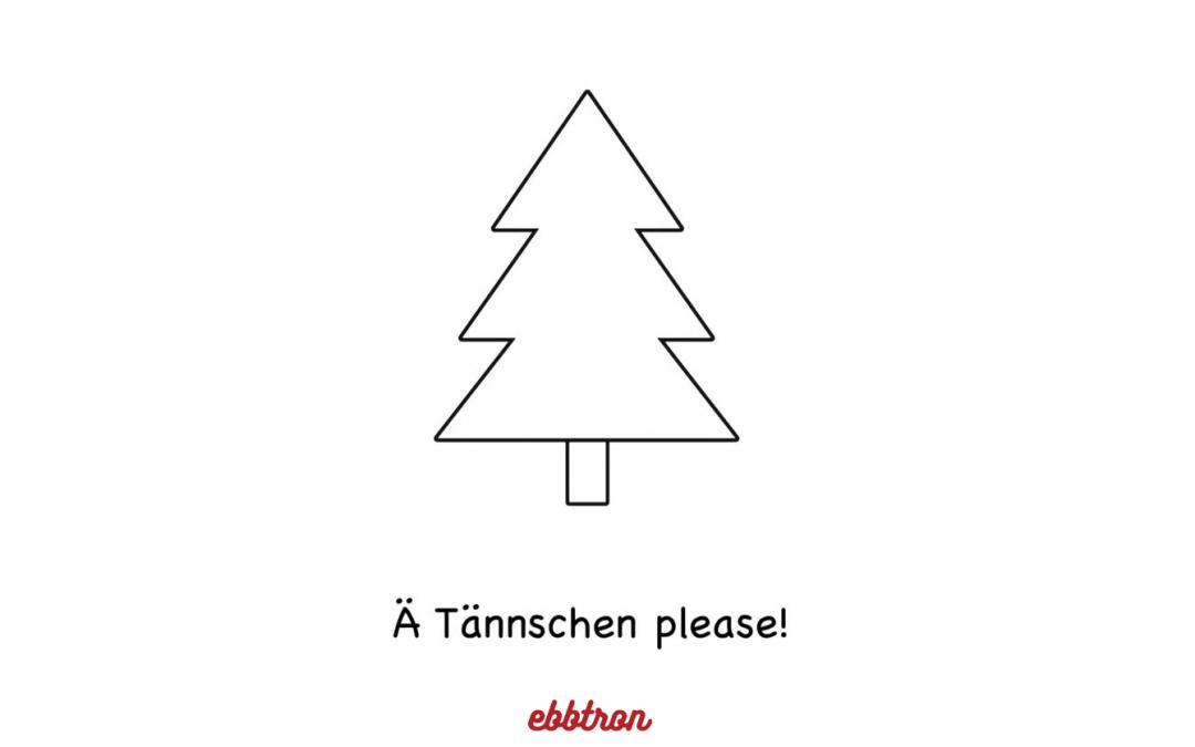 Ebbtron Weihnachtsbaum outlines