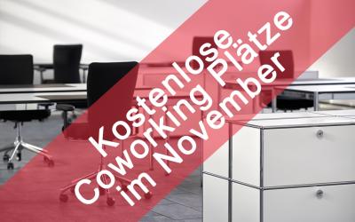Kostenlose Coworking Plätze im November
